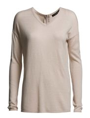VILIS ZIP KNIT TOP - Peach Blush
