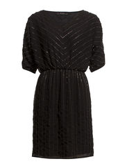 VILAURA 1/2 SLEEVE DRESS - Black