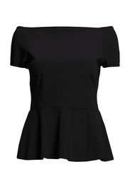 VITREND PEPLUM TOP - Black