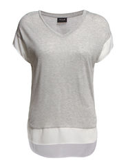 VICAUT S/S TOP - Light Grey Melange