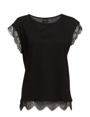 VILI LACE T-SHIRT - Black
