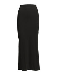 VIHONESTY MAXI SLIT SKIRT - Black