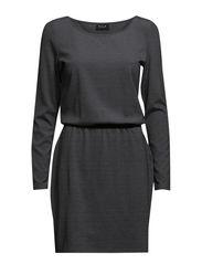 VILISE L/S DRESS #G - Medium Grey Melange