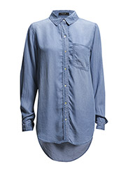 VISALLO OVERSIZED DENIM SHIRT - Medium Blue Denim