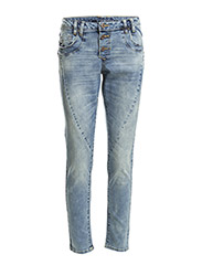 VICILA BOYFRIEND JEANS HK0051 - Medium Blue Denim
