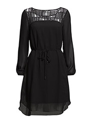 VILORI L/S DRESS - Black