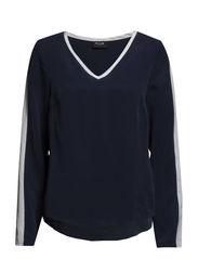 VISITUA L/S TOP - Black Iris