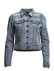 VIPEACE DENIM JACKET - Medium Blue Denim