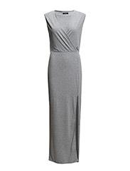 VISIMA MAXI DRESS - Light Grey Melange