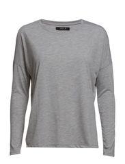 VIGYRAS L/S TOP - Light Grey Melange