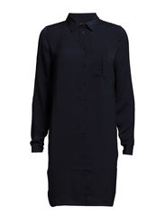VIMELLI L/S SHIRT DRESS - Black Iris
