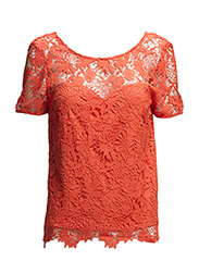 VIULRIKKA TOP - Hot Coral