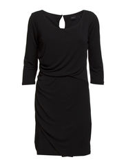 VIMAMBA DRAPED DRESS - Black