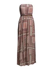 VITANNY LONG DRESS - Apricot Blush