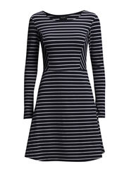 VITINA STRIPED DRESS - Black Iris
