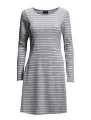 VITINA STRIPED DRESS - Light Grey Melange