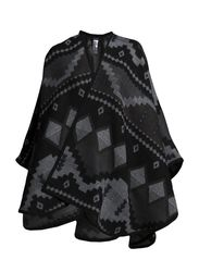 VITRINE PONCHO - Light Grey Melange