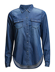 VIBASTA DENIM SHIRT - Medium Blue Denim
