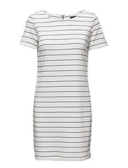 VITINNY NEW S/S DRESS - SNOW WHITE