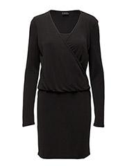 VISEVERAL L/S DRESS - BLACK