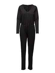 VIRESTI L/S JUMPSUIT - BLACK