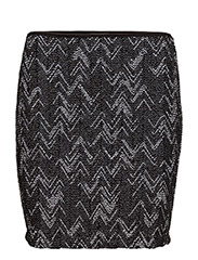 VIVALA NEW ZIGZAG SKIRT - BLACK