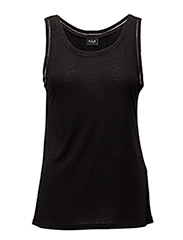 VIVOILA DETAIL TANK TOP VOL - BLACK