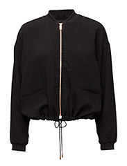 VIBARKA BOMBER JACKET - BLACK