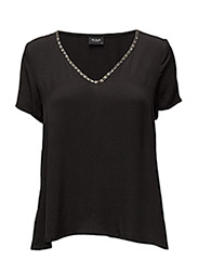 VIWOME S/S TOP - BLACK