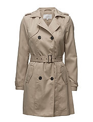 VITHREE LONG TRENCHCOAT-NOOS - SOFT CAMEL