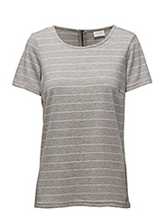 VITINNY S/S TOP-NOOS - LIGHT GREY MELANGE