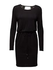 VIFLIRT L/S DRESS - BLACK