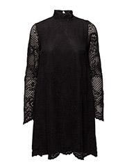 VILORAS L/S LACE DRESS - BLACK
