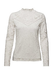 VISTASIA L/S LACE TOP-NOOS - CLOUD DANCER