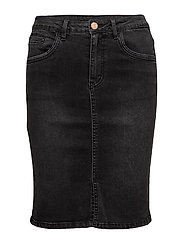 VIBARCHER DENIM SKIRT - BLACK