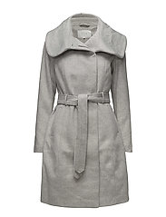 VIDAHLIA WOOL COAT-NOOS - LIGHT GREY MELANGE
