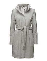 VIBEE WOOL COAT-NOOS - LIGHT GREY MELANGE