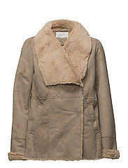 VIPONY FAUX SHEARLING  JACKET - SOFT CAMEL