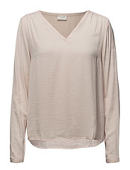 VICAVA L/S V-NECK TOP-NOOS - PEACH BLUSH