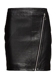 VIFLORISTA LEATHER SKIRT - BLACK