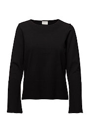 VIFINDANA BELLSLEEVE KNIT TOP/GV - BLACK