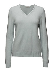 VIRIL L/S V-NECK KNIT TOP-FAV - PLEIN AIR