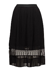 VISTELLA MIDI SKIRT/DC - BLACK