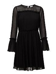 VIVESPER L/S DRESS/P/GV - BLACK