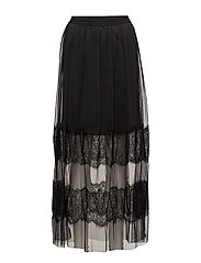 VIROKAS LACE MAXI SKIRT/P - BLACK