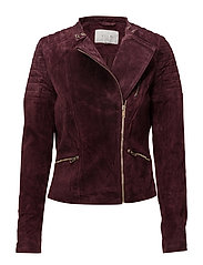 VIELENA SUEDE BIKER JACKET - FIG