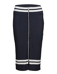 VICHASEL ZIP SKIRT - DARK NAVY