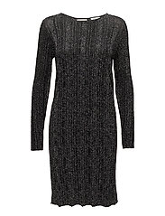 VIMARBEL L/S KNIT DRESS - BLACK