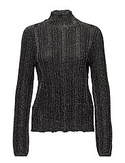 VIMARBEL L/S KNIT TOP - BLACK