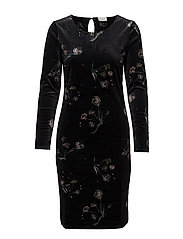 VIVELVY TASJA L/S DRESS - BLACK